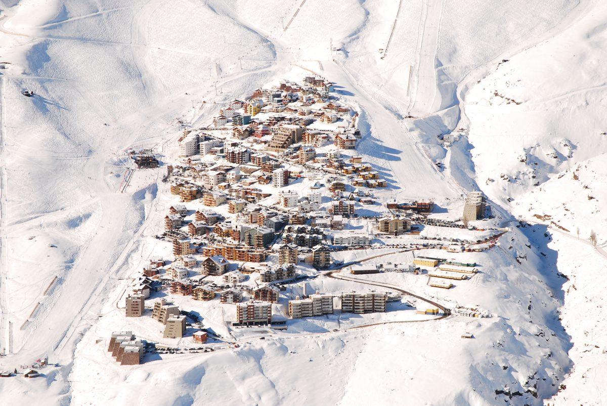 Esquiar en la Cordillera de Los Andes