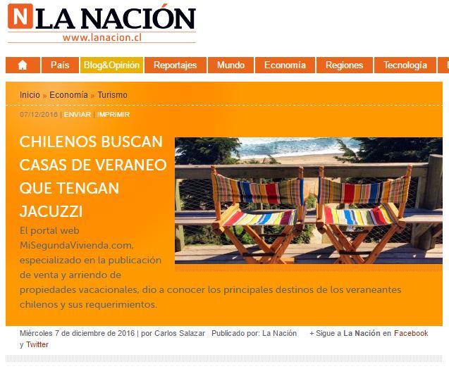 Prensa: Mi Segunda Vivienda en Diario La Nación
